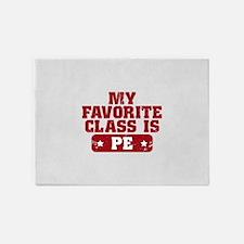 My Favorite Class is PE 5'x7'Area Rug