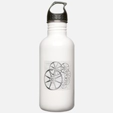 Movie Reel Grunge Water Bottle