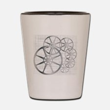 Movie Reel Grunge Shot Glass