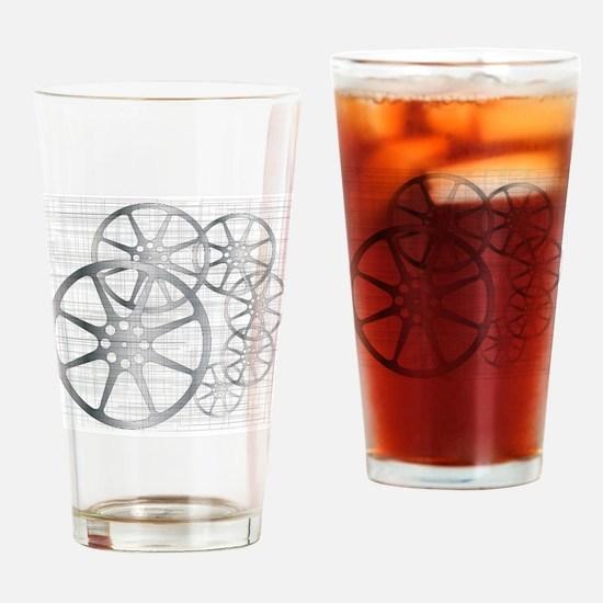Movie Reel Grunge Drinking Glass