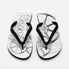 Movie Reel Grunge Flip Flops