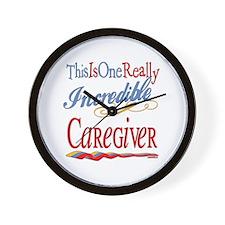 Incredible Caregiver Wall Clock