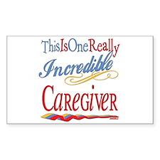 Incredible Caregiver Rectangle Decal