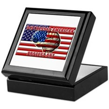 Distressed American Logo Keepsake Box