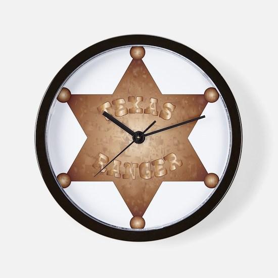 Texas Ranger Wall Clock