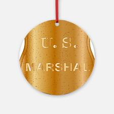 United States MArshal Shield Badge Round Ornament