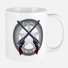 US Marshal Guns and Badge Mugs