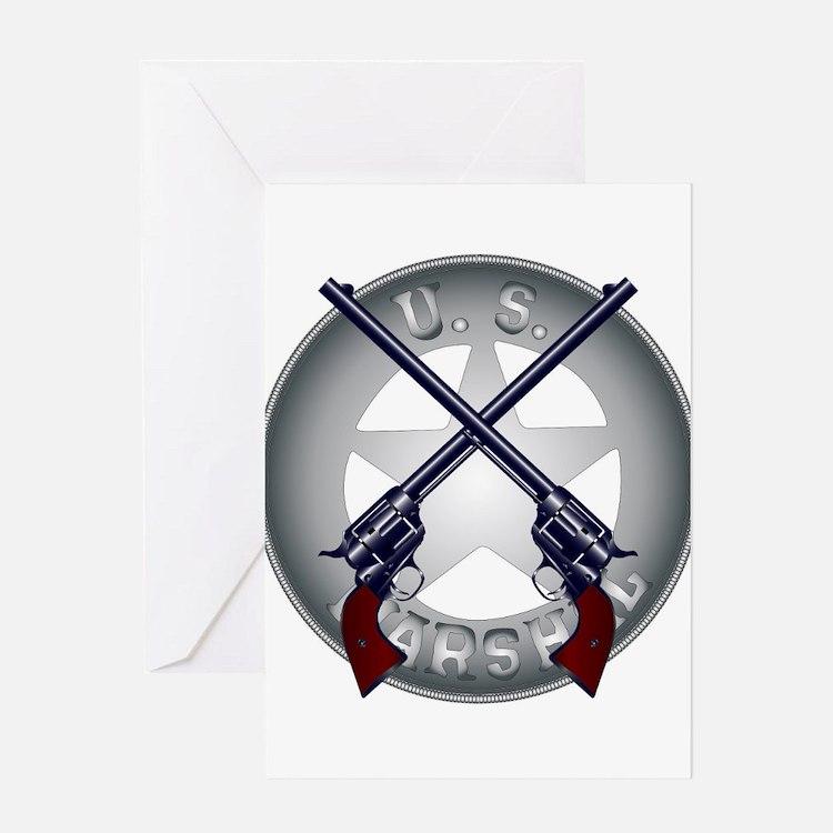 US Marshal Guns and Badge Greeting Cards
