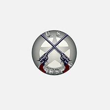 US Marshal Guns and Badge Mini Button
