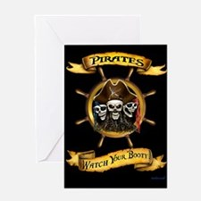Pirates Watch Your Booty! Greeting Cards