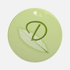 Leaves Monogram D Ornament (Round)