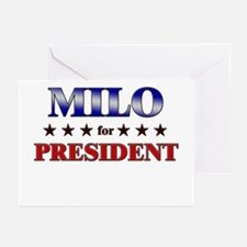 MILO for president Greeting Cards (Pk of 10)