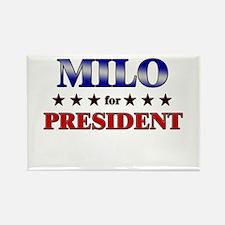 MILO for president Rectangle Magnet