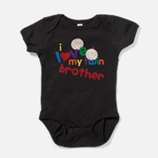 Cute Twin brother Baby Bodysuit