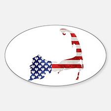 Cape Cod American Flag Decal