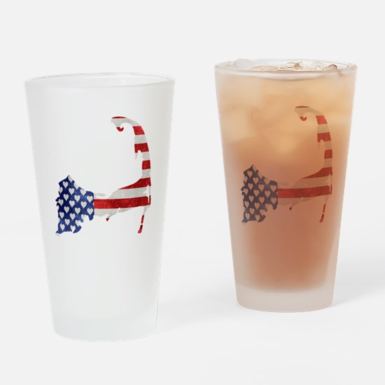 Cape Cod American Flag Drinking Glass