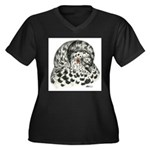 English Trumpeter Pigeon Women's Plus Size V-Neck