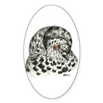 English Trumpeter Pigeon Oval Sticker