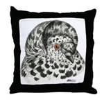 English Trumpeter Pigeon Throw Pillow