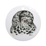 English Trumpeter Pigeon Ornament (Round)