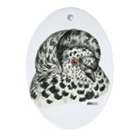 English Trumpeter Pigeon Oval Ornament