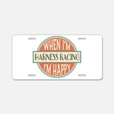 happy harness racer Aluminum License Plate
