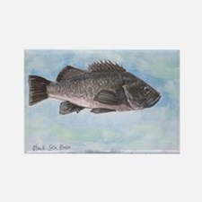 Cute Saltwater fish Rectangle Magnet