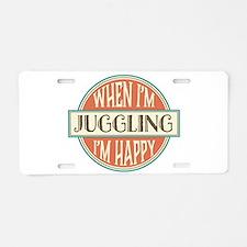 happy juggler Aluminum License Plate