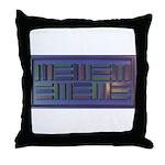 Jackie-Blue Throw Pillow