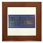 Jackie-Blue Framed Tile