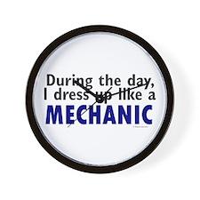 Dress Up Like A Mechanic Wall Clock