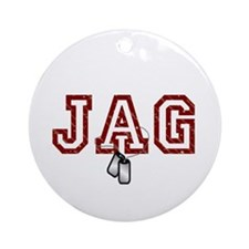 jag stars and stripes 4 Ornament (Round)