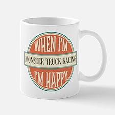 happy monster truck racer Mug