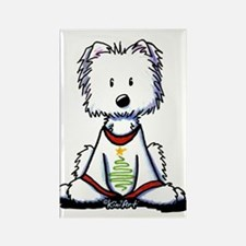 Festive Westie Rectangle Magnet