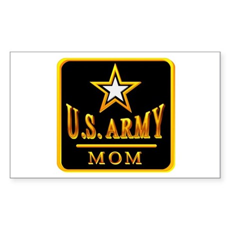 Army Mom Rectangle Sticker