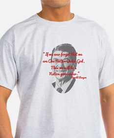 Reagan Photo And Quote T-Shirt