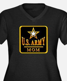 Army Mom Women's Plus Size V-Neck Dark T-Shirt