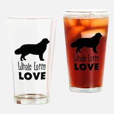 Cute Newfy Drinking Glass