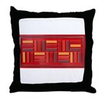 Jackie-Red Throw Pillow