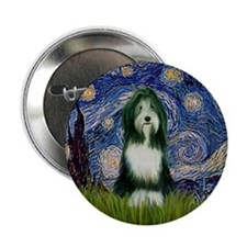 Starry Night & Beardie #9 Button