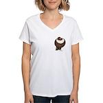 Pouter Pigeon Women's V-Neck T-Shirt