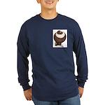 Pouter Pigeon Long Sleeve Dark T-Shirt