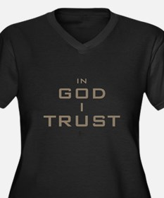 In God I Trust Plus Size T-Shirt