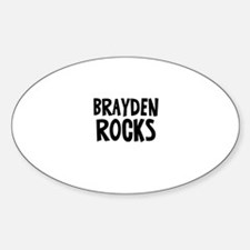 Brayden Rocks Oval Decal