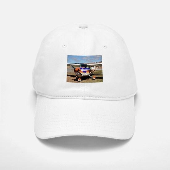 Women fly: high wing aircraft Baseball Baseball Cap