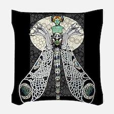 Dragon Lady Woven Throw Pillow