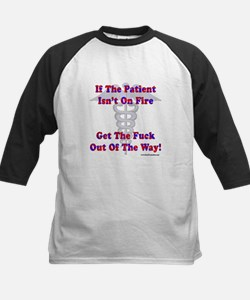 Patient Isnt On Fire Gifts Kids Baseball Jersey