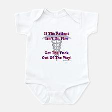 Patient Isnt On Fire Gifts Infant Bodysuit