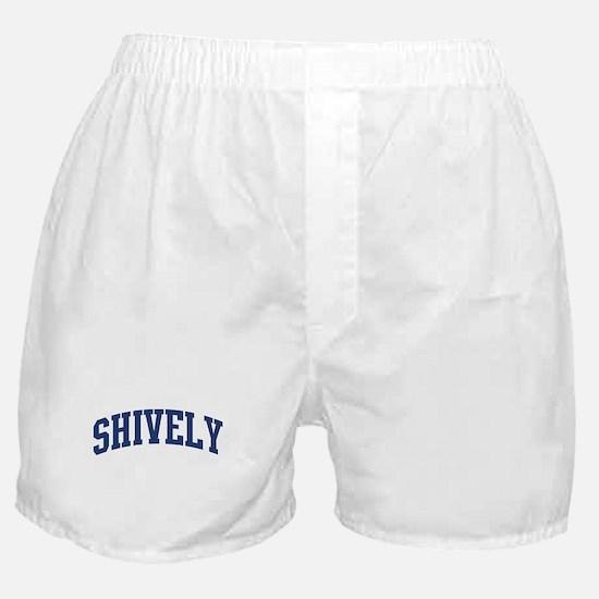 SHIVELY design (blue) Boxer Shorts