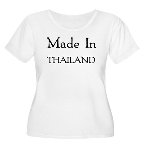 Made In Thailand Women's Plus Size Scoop Neck T-Sh